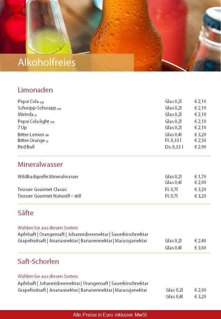 Getränkekarte | Sporthotel Öhringen